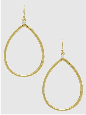 Gold Hammered Metal Earrings