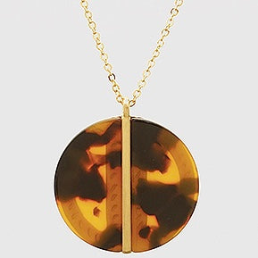 Tortoise Disc Necklace