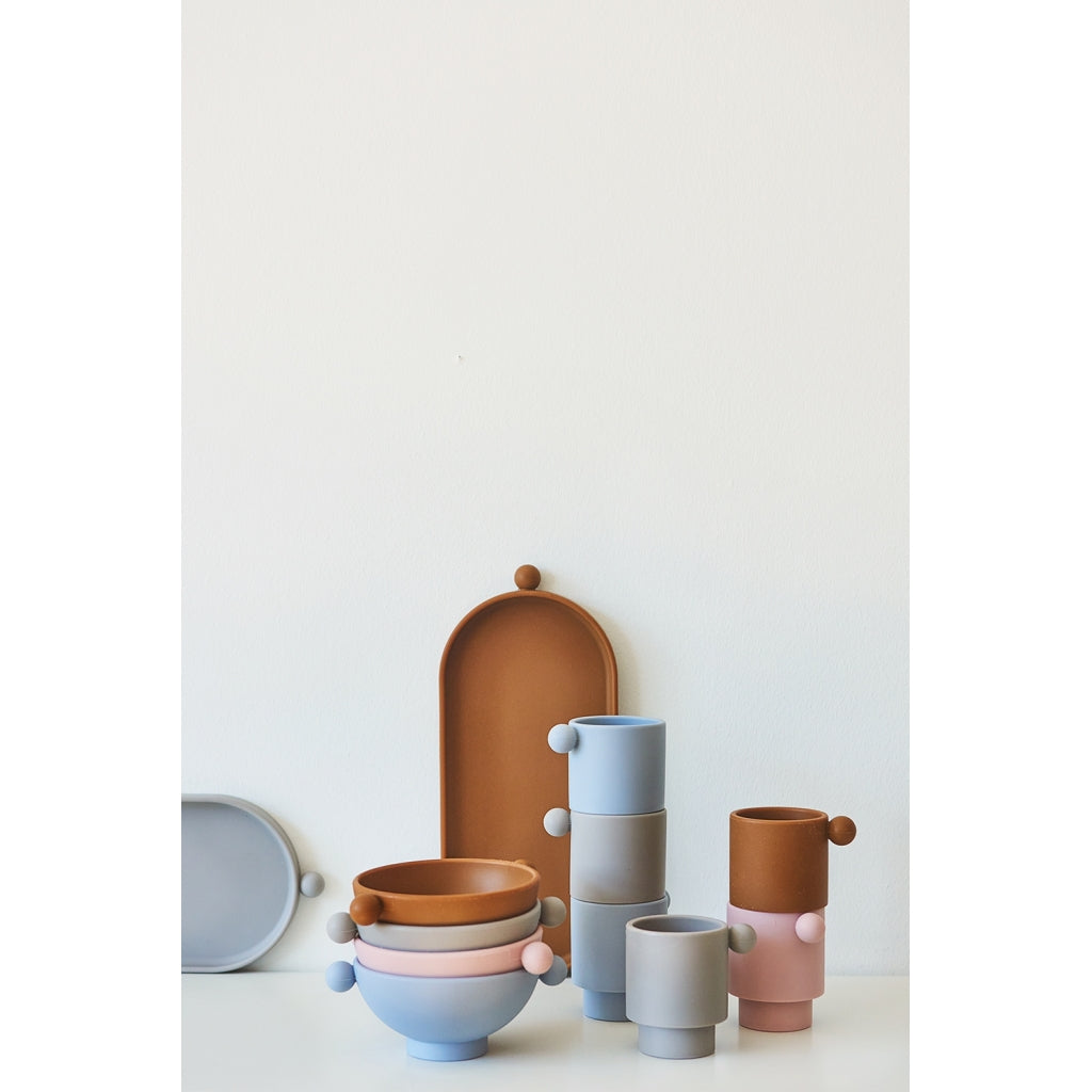 OYOY Living Tiny Inka Cup Blue Clay 2-pack