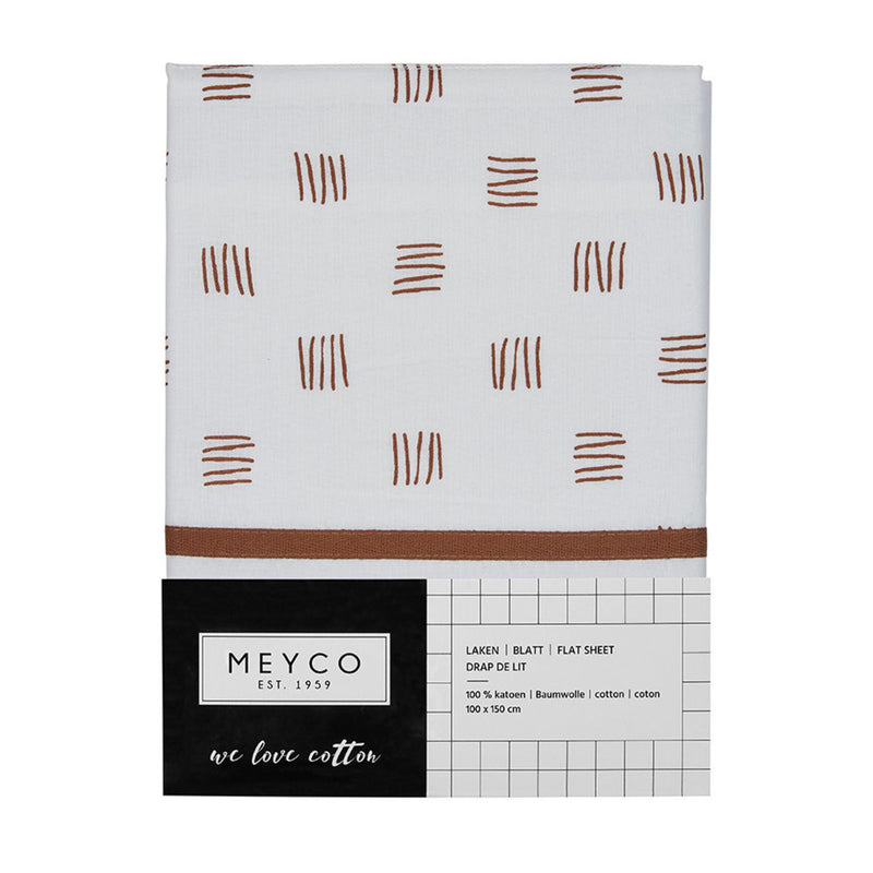 Meyco Laken Block Stripe Camel