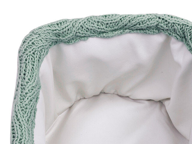 Jollein Mandje River Knit Ash Green