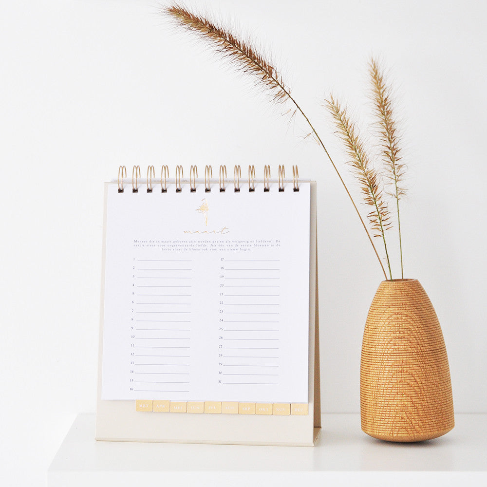 House of Products Kalender Nature Gold