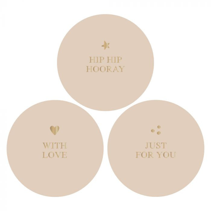House of Products Stickers Multi Gold Beige
