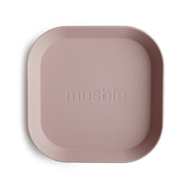 Mushie Bordjes Vierkant Blush 2-pack