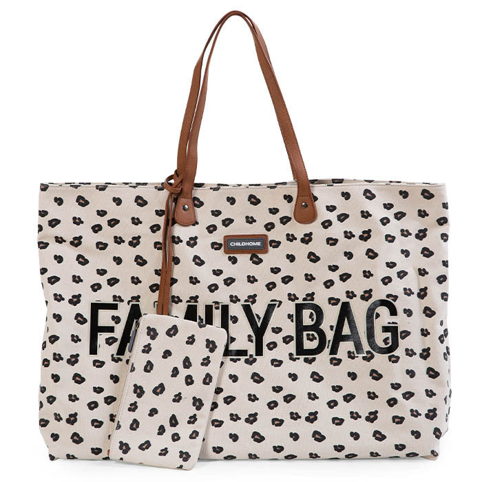 Childhome Family Bag Canvas Leopard