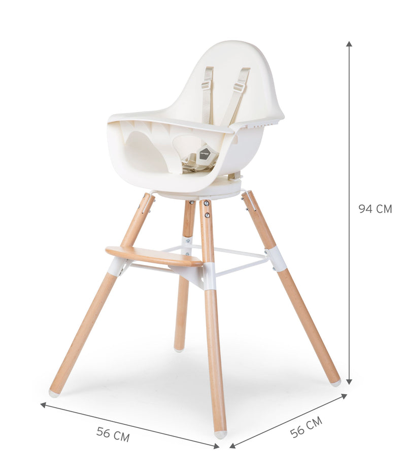 Childhome Kinderstoel One.80 Naturel Wit