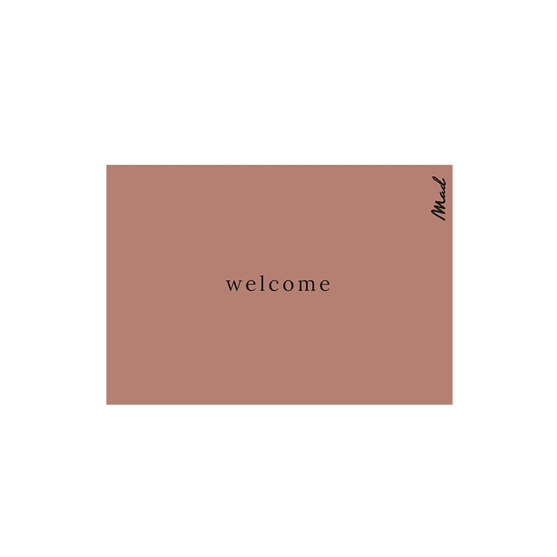Mad About Mats Deurmat Welcome Terracotta