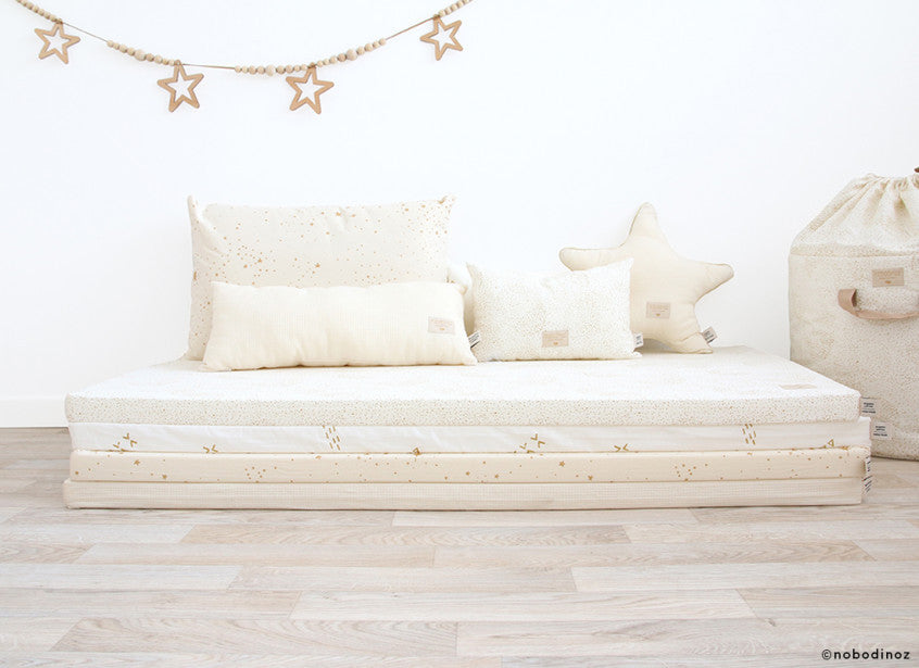 Nobodinoz Speelmatras Saint Barth Gold Stella Natural