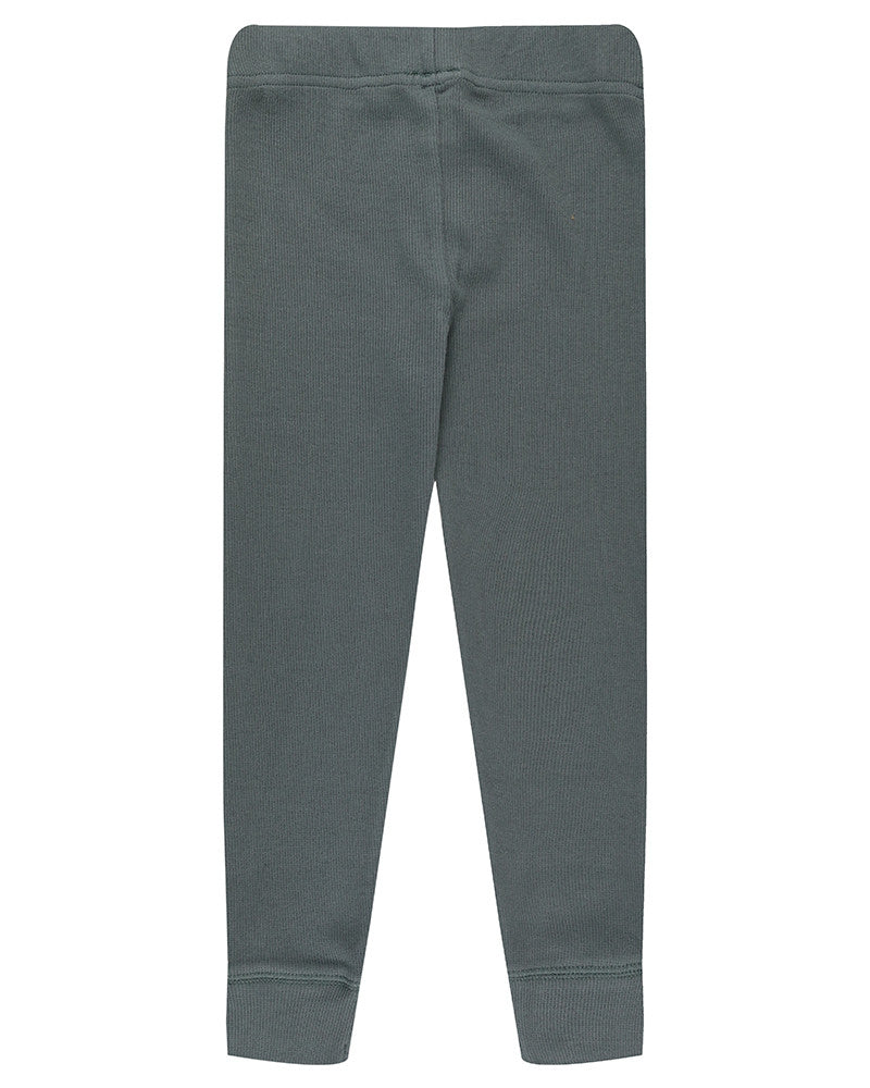 Turtledove Legging Basic Rib Steel