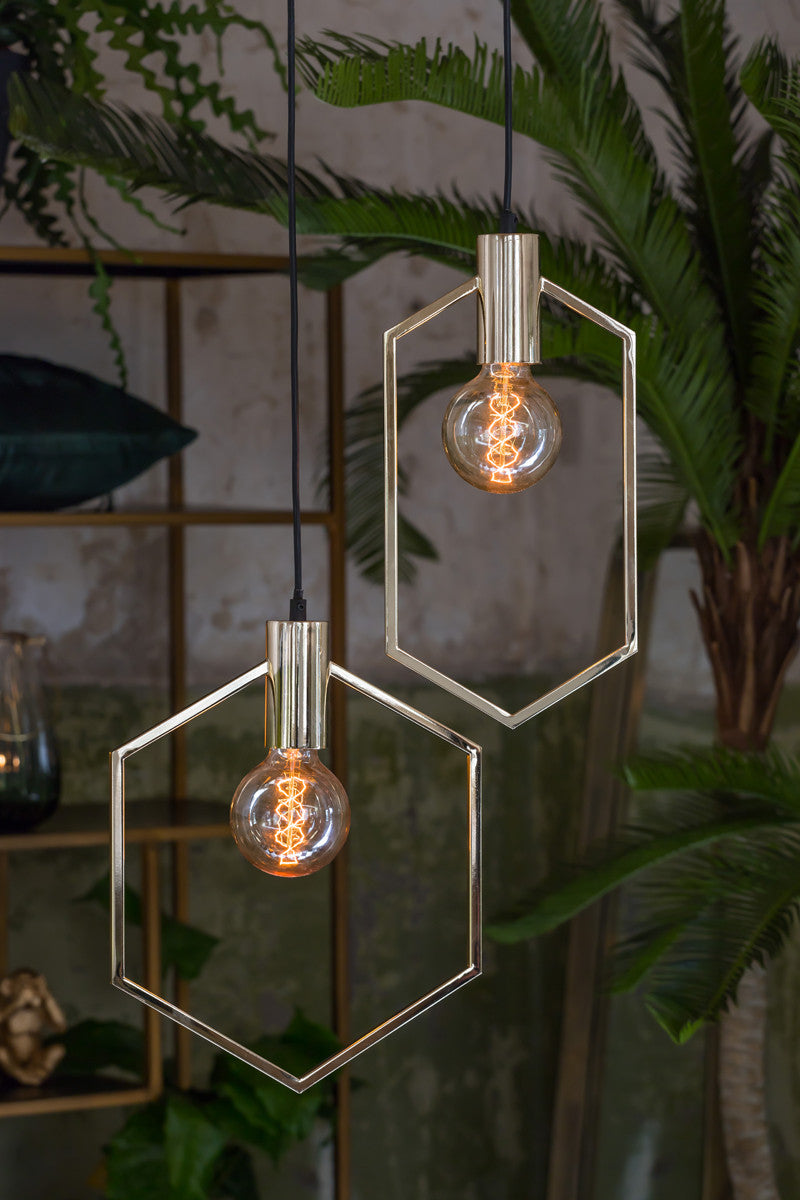 Light & Living Hanglamp Aina Goud