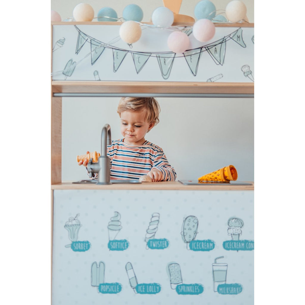 STCKRS Stickerset Ikea Keuken Ice Cream Bar Blue