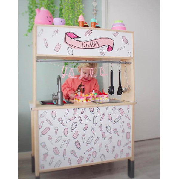 STCKRS Stickerset Ikea Keuken Ice Cream Bar Pink
