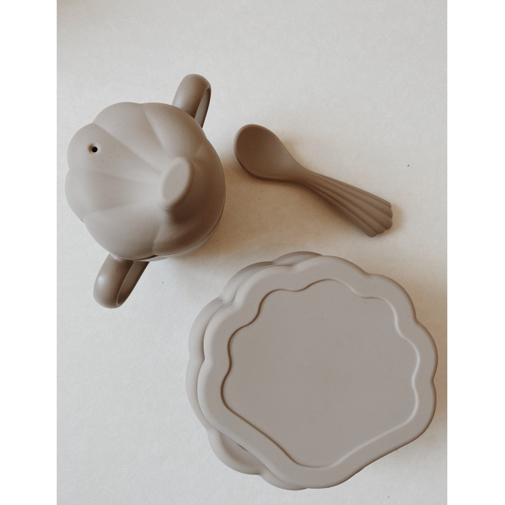 Konges Sløjd Dinerset Silicone Clam Warm Grey