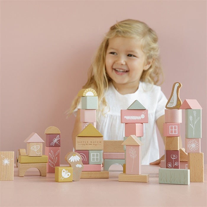 Little Dutch Houten Blokken Pink