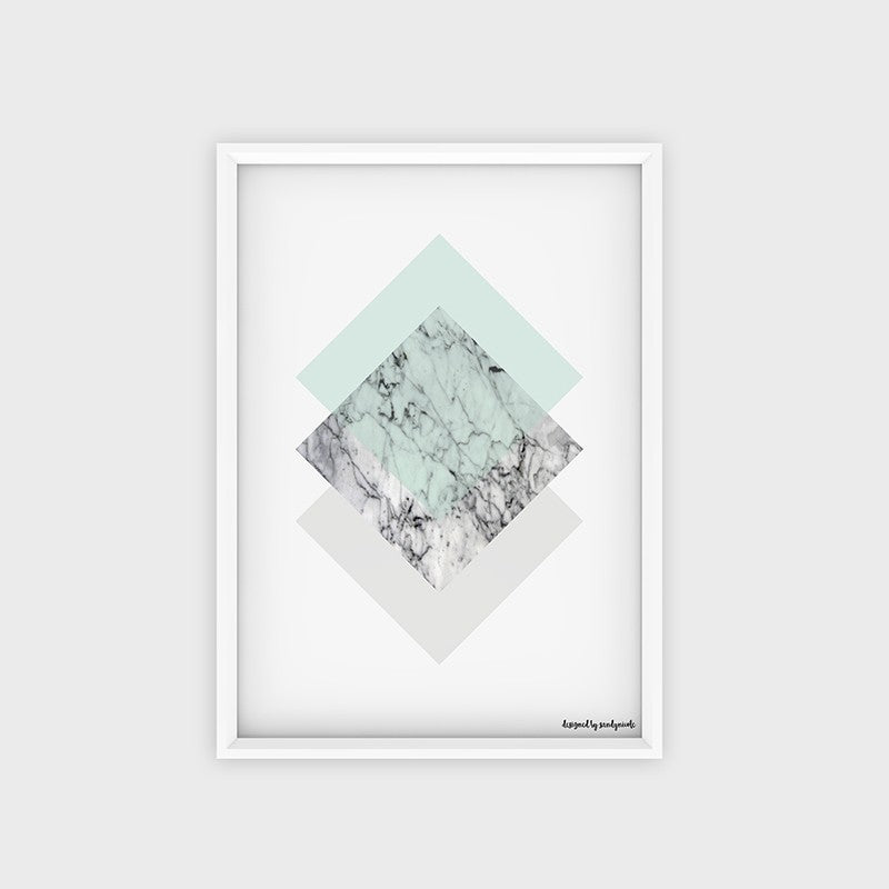 Poster Marble Mint