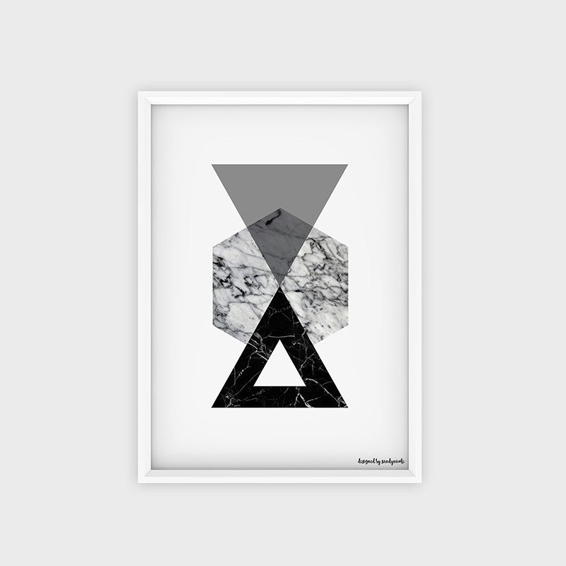 Poster Marble Triangle