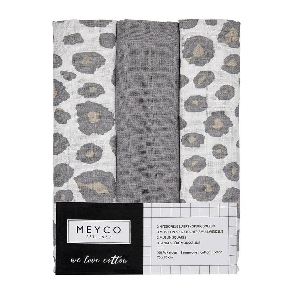 Meyco Hydrofiele Luier Panter Neutral 3-pack