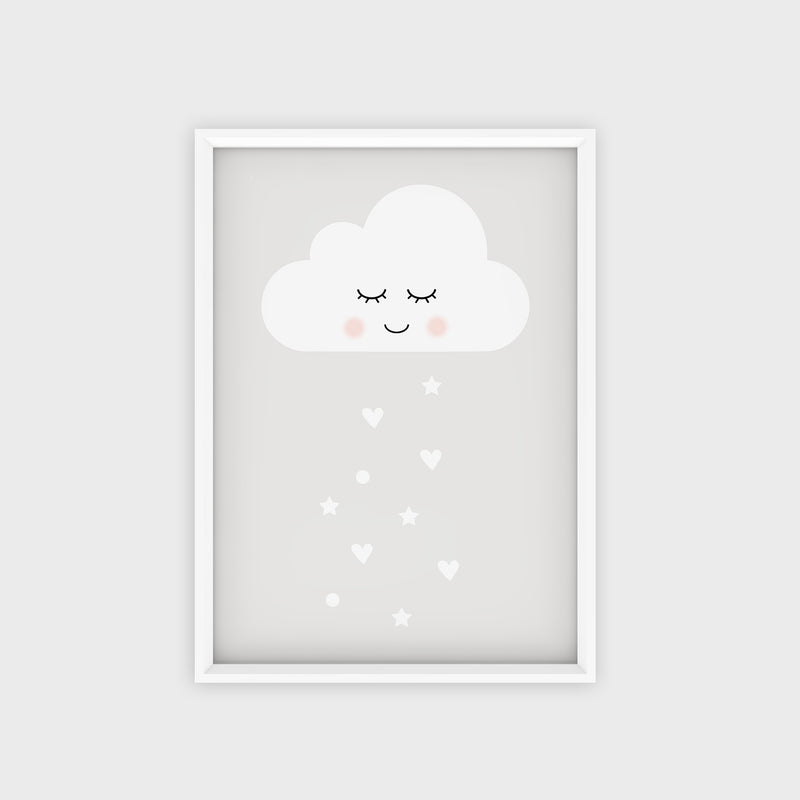 Poster Happy Cloud Grey