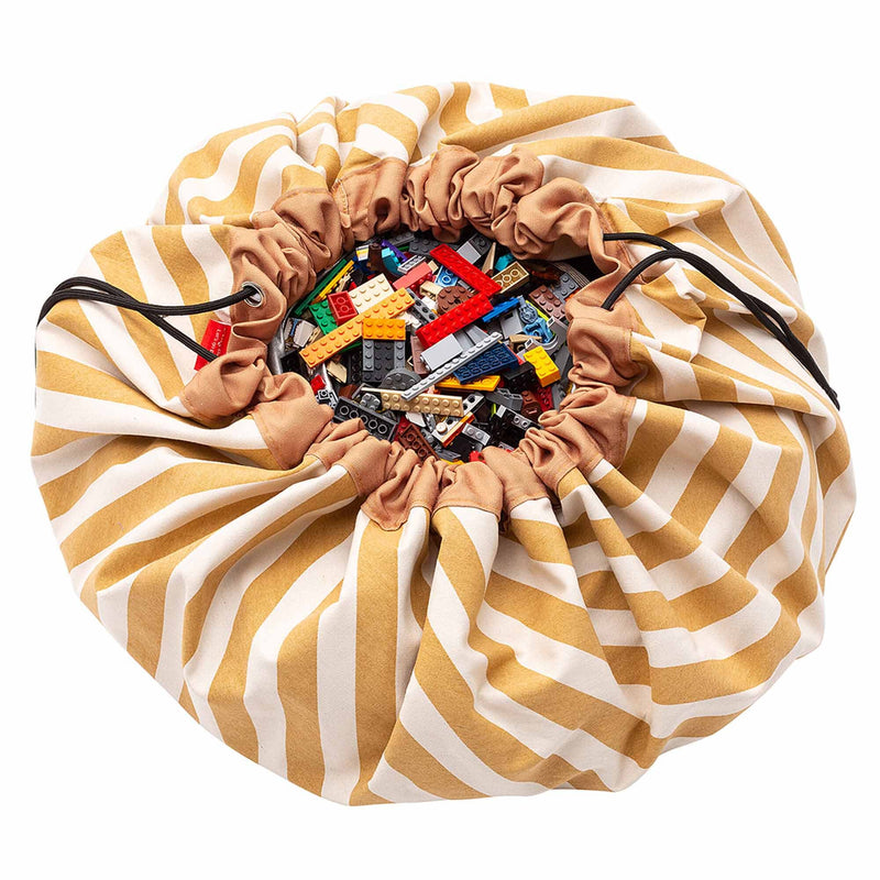 Play & Go Opbergzak Speelkleed Stripes Mustard