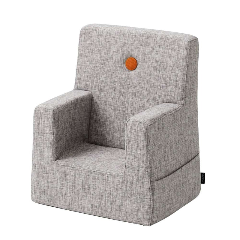 By KlipKlap KK Kinderfauteuil Grey Orange 0-3 jaar