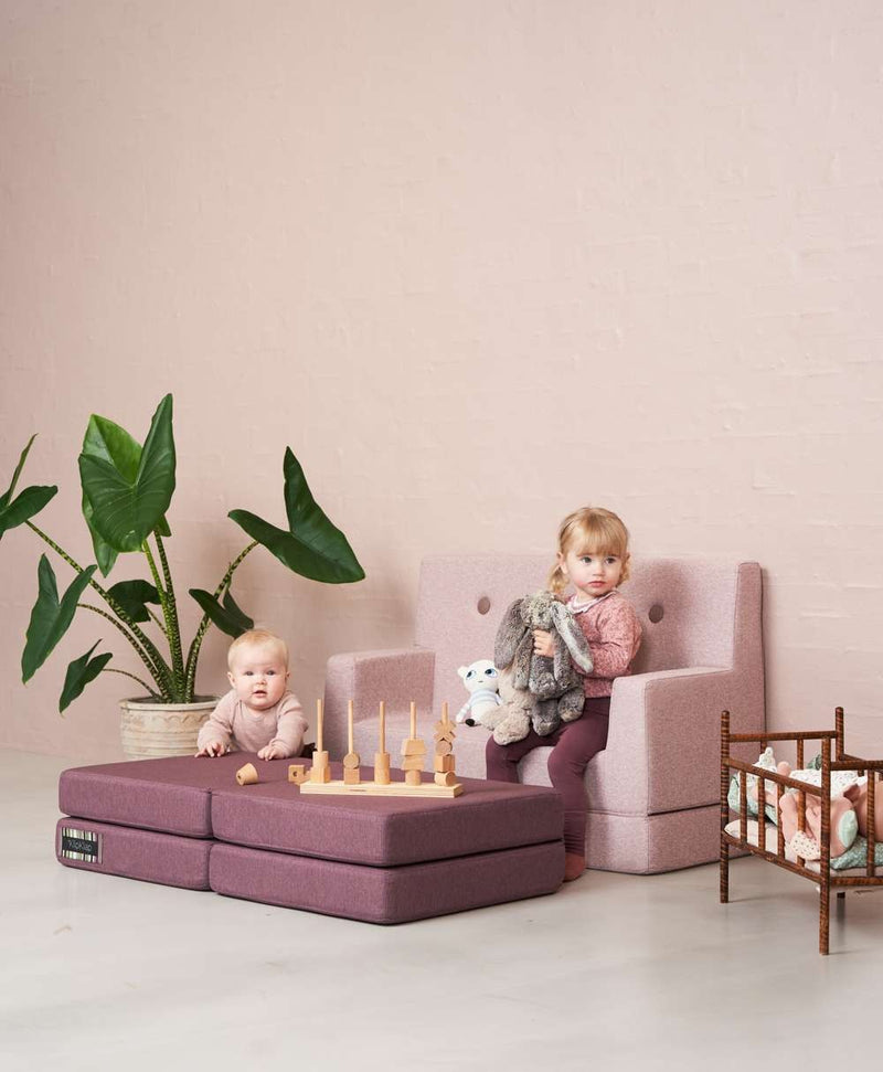 By KlipKlap KK Kids Sofa Soft Rose