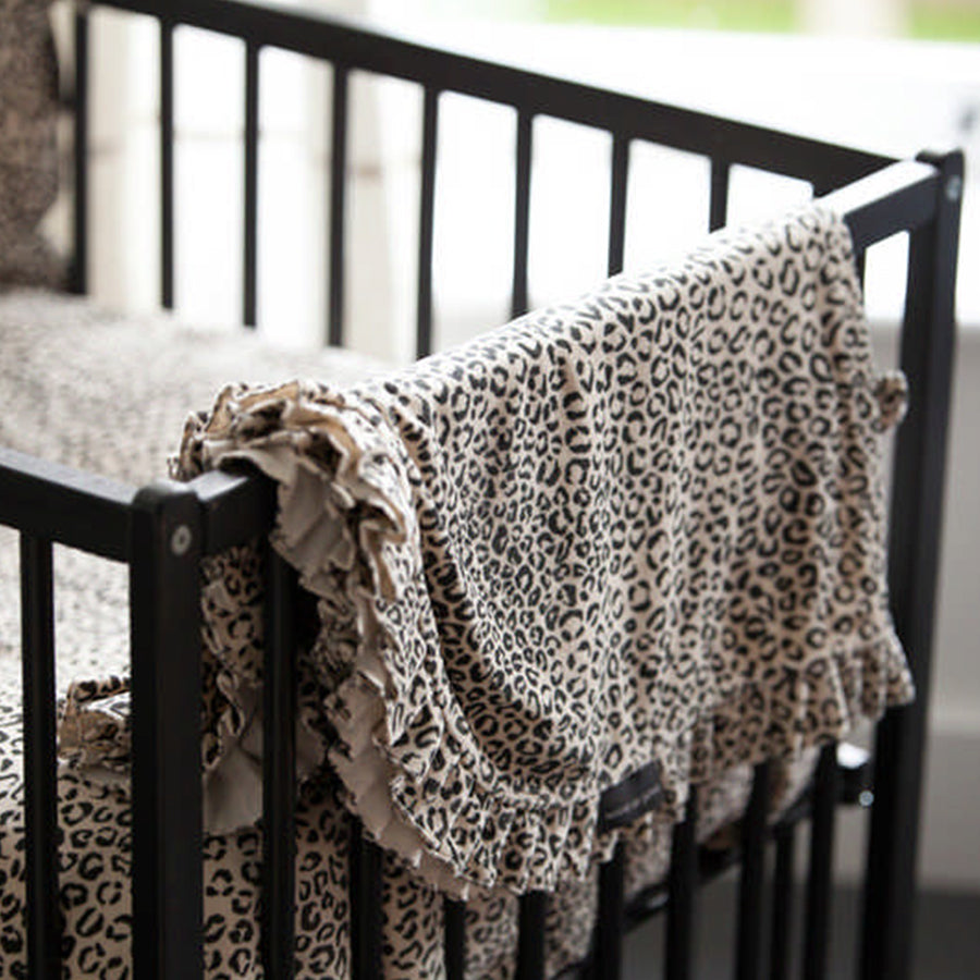 House Of Jamie Deken Snow Leopard Velvet