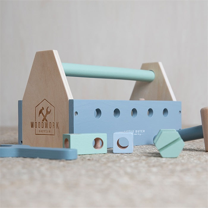 Little Dutch Houten Gereedschapskist Adventure Blue