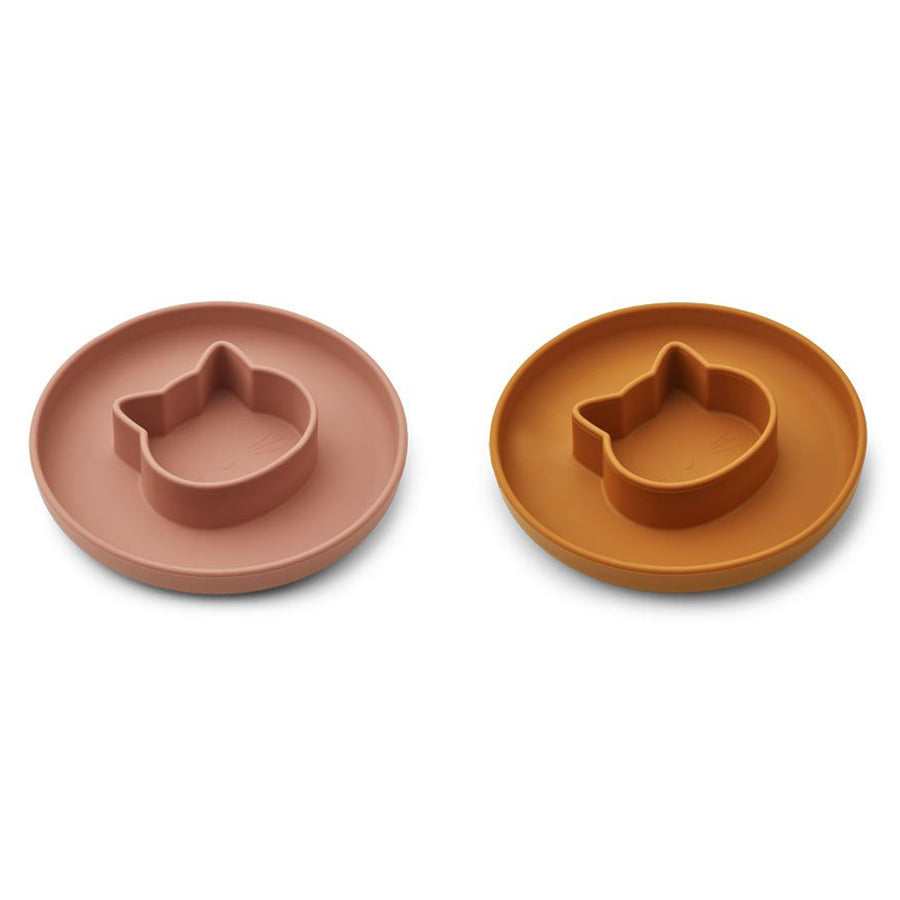 Liewood Bordjes Silicone Gordon Cat Dark Rose Mustard Mix