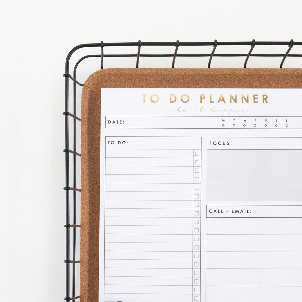 House of Products To Do Planner Gold