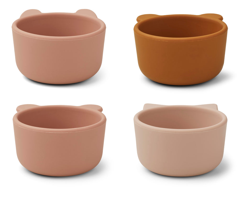 Liewood Silicone Bowls Malene Rose 4-pack