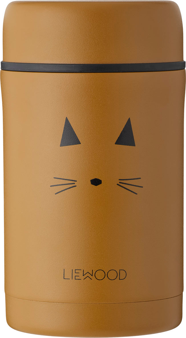 Liewood Thermos Food Jar Bernard Cat Mustard