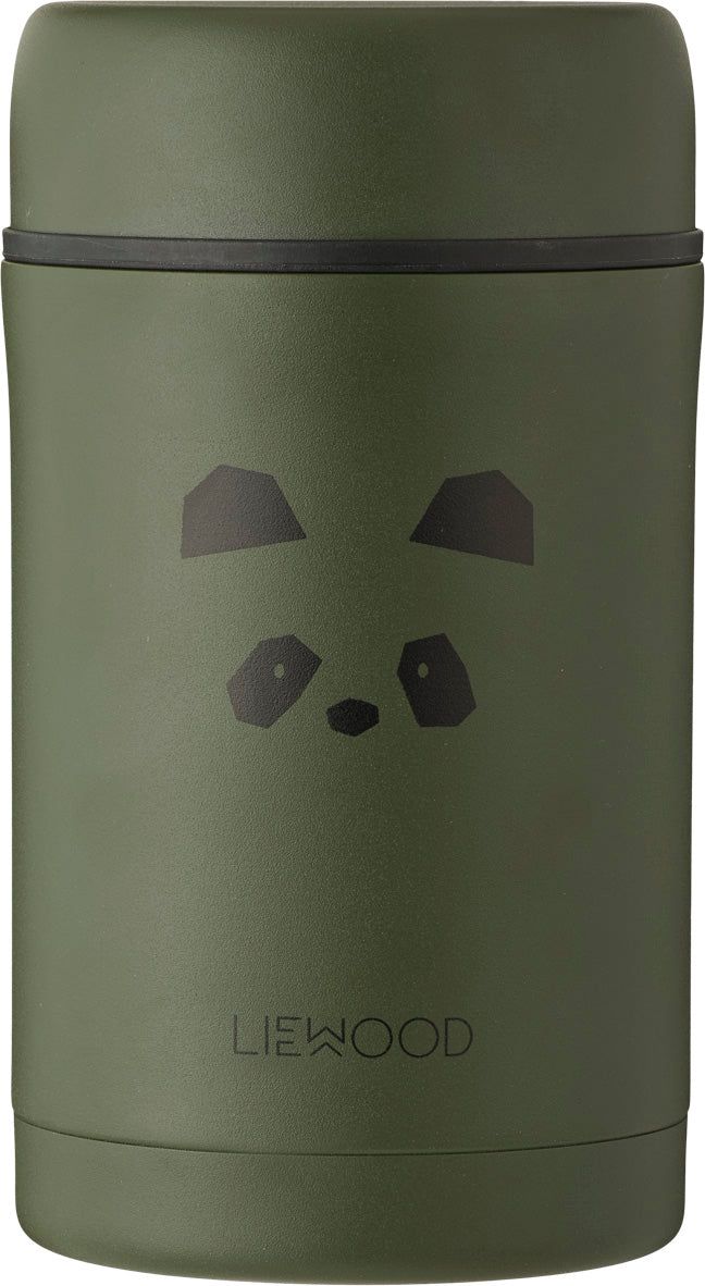 Liewood Thermos Food Jar Bernard Panda Hunter Green