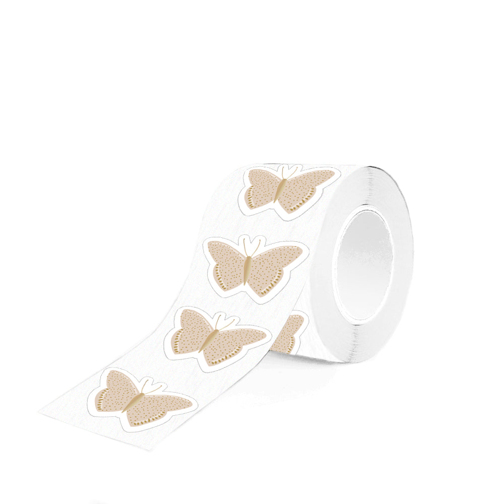 House of Products Stickers Butterfly Beige