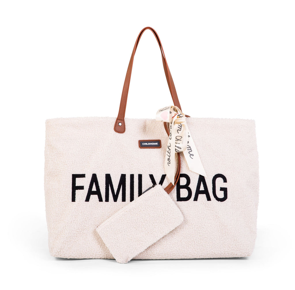 Childhome Family Bag Teddy Ecru