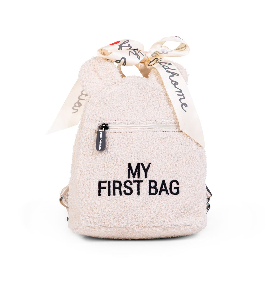 Childhome Rugzak My First Bag Teddy Ecru