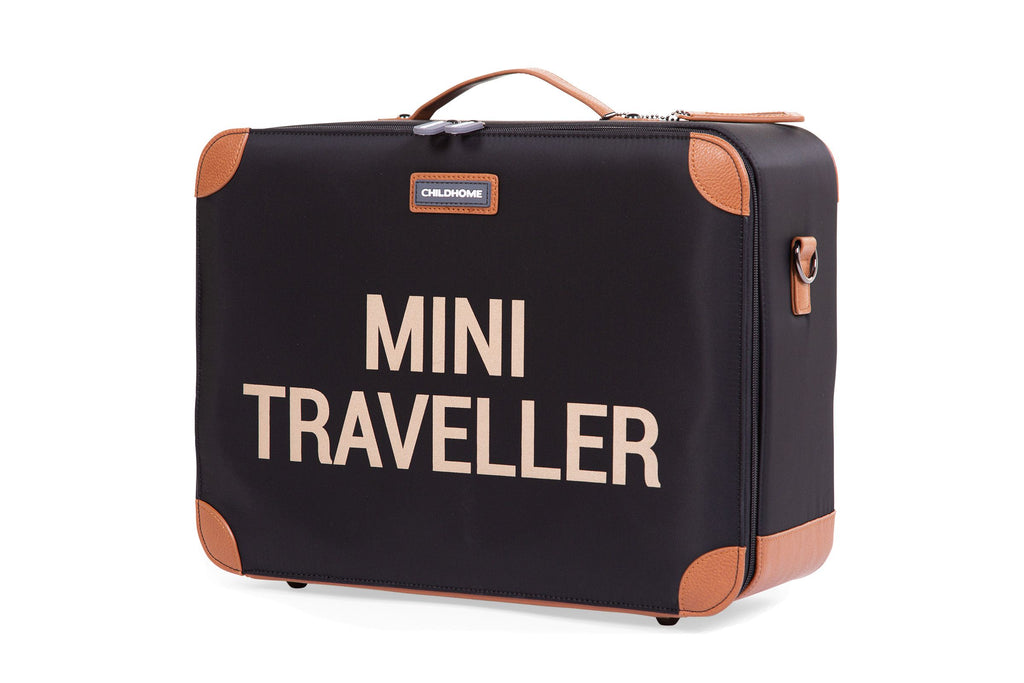 Childhome Kinderkoffer Mini Traveller Zwart Goud