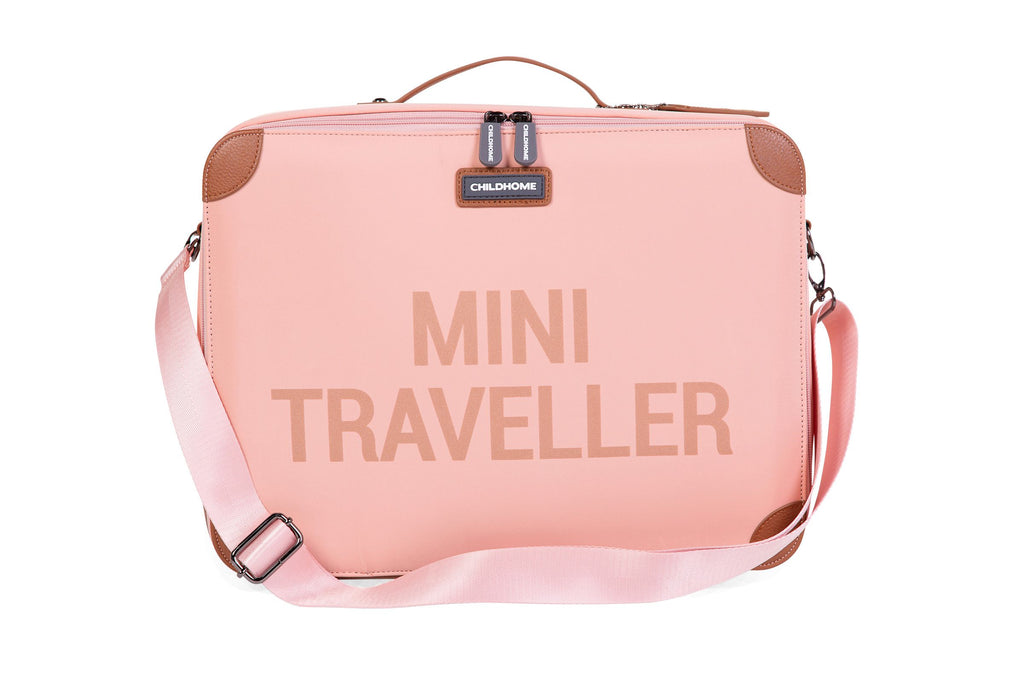 Childhome Kinderkoffer Mini Traveller Roze Koper