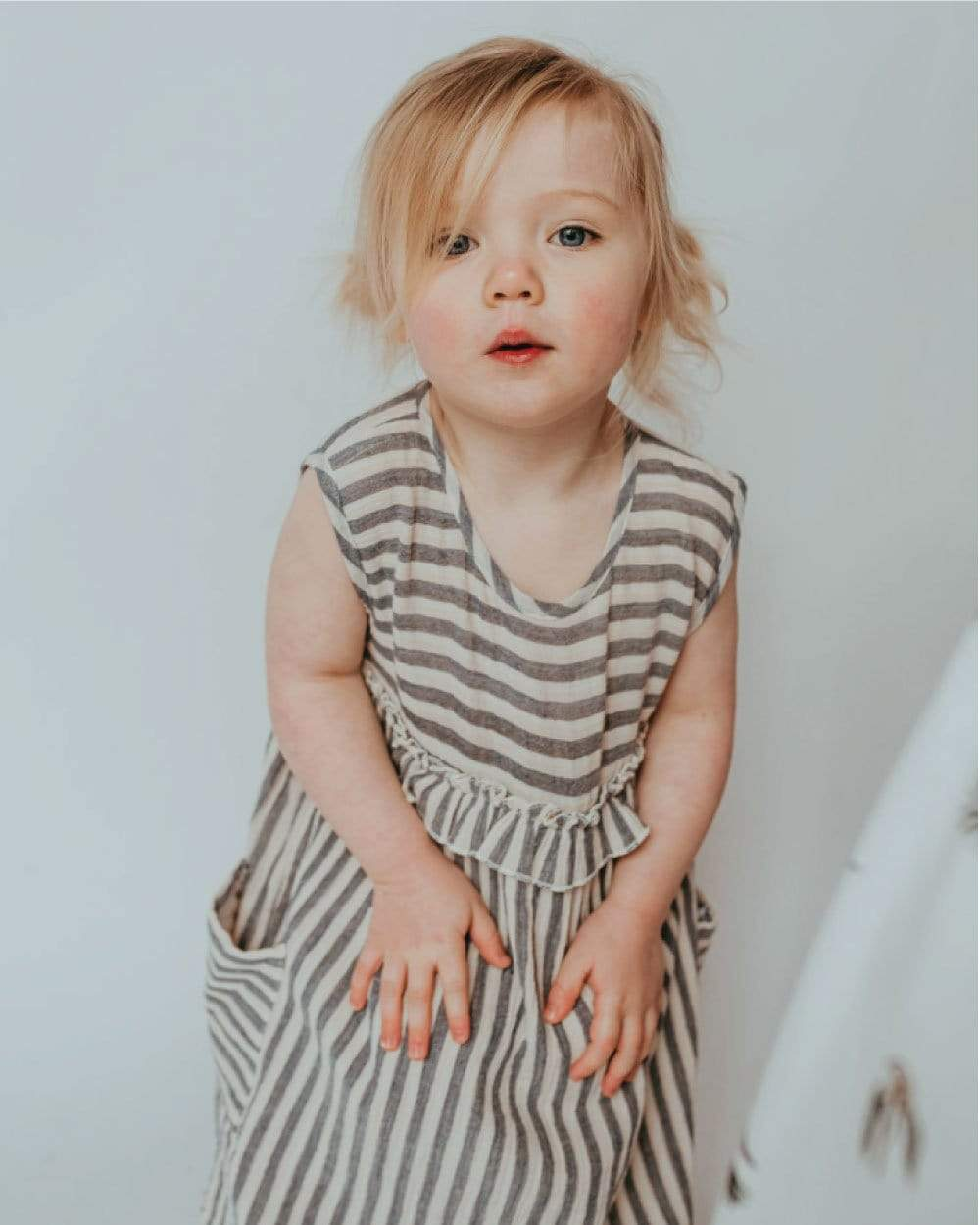 Turtledove Jurkje Reversible Crinkle Stripe