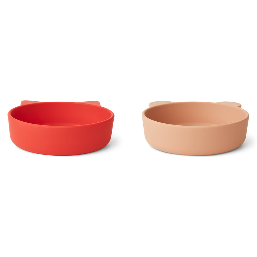 Liewood Silicone Bowls Vanessa Apple Red Mix 2-pack