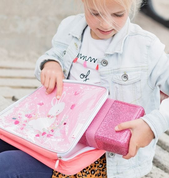 A Little Lovely Company Lunchbox Glitter - Roze