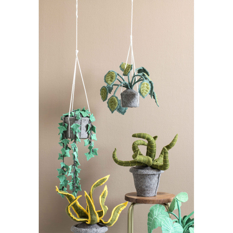 KidsDepot Hangplant Vilt Big Leaves