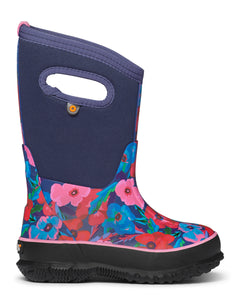 BOGS Kid's Classic Water Pansies Boot. Constructed with 7mm Neo-Tech waterproof insulation