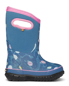 BOGS Girls' Classic Dark Blue Multi Planets Boots.You'll never hear your kids complain about wet or cold feet with these Bogs Classic Boots.