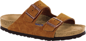 Birkenstock Arizona Mink Suede Soft Footbed
