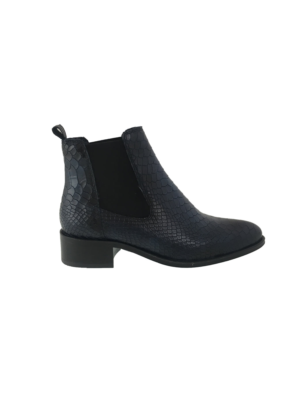 Ateliers Bobby Boot-Snake leather Chelsea boot on a stacked heel