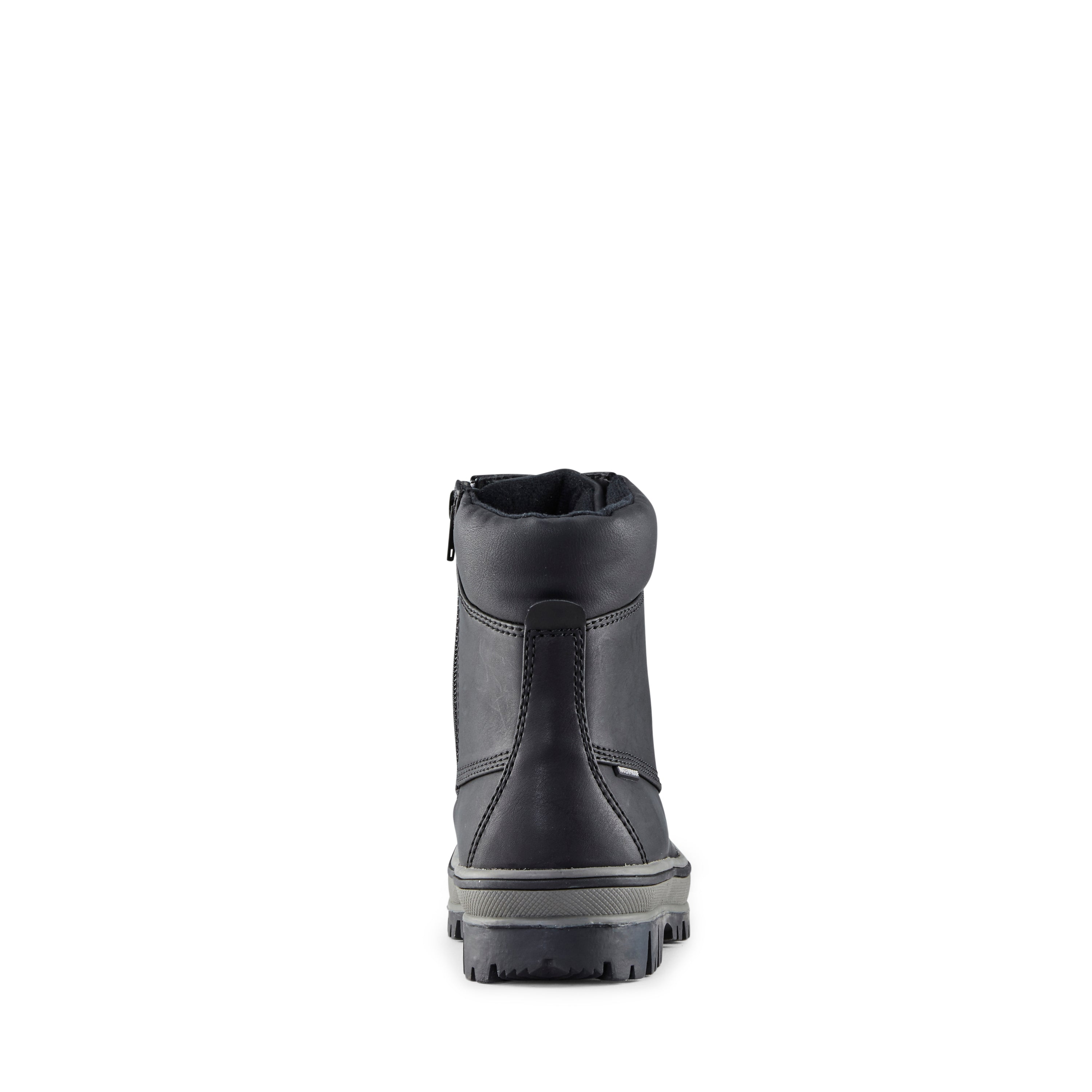 Cougar kid's boot black inspired style with snow boot function (back). Thermolite insulation for added warmth.