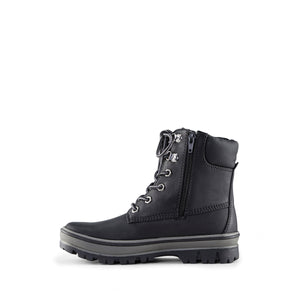 Cougar kid's boot black inspired style with snow boot function. Thermolite insulation for added warmth.