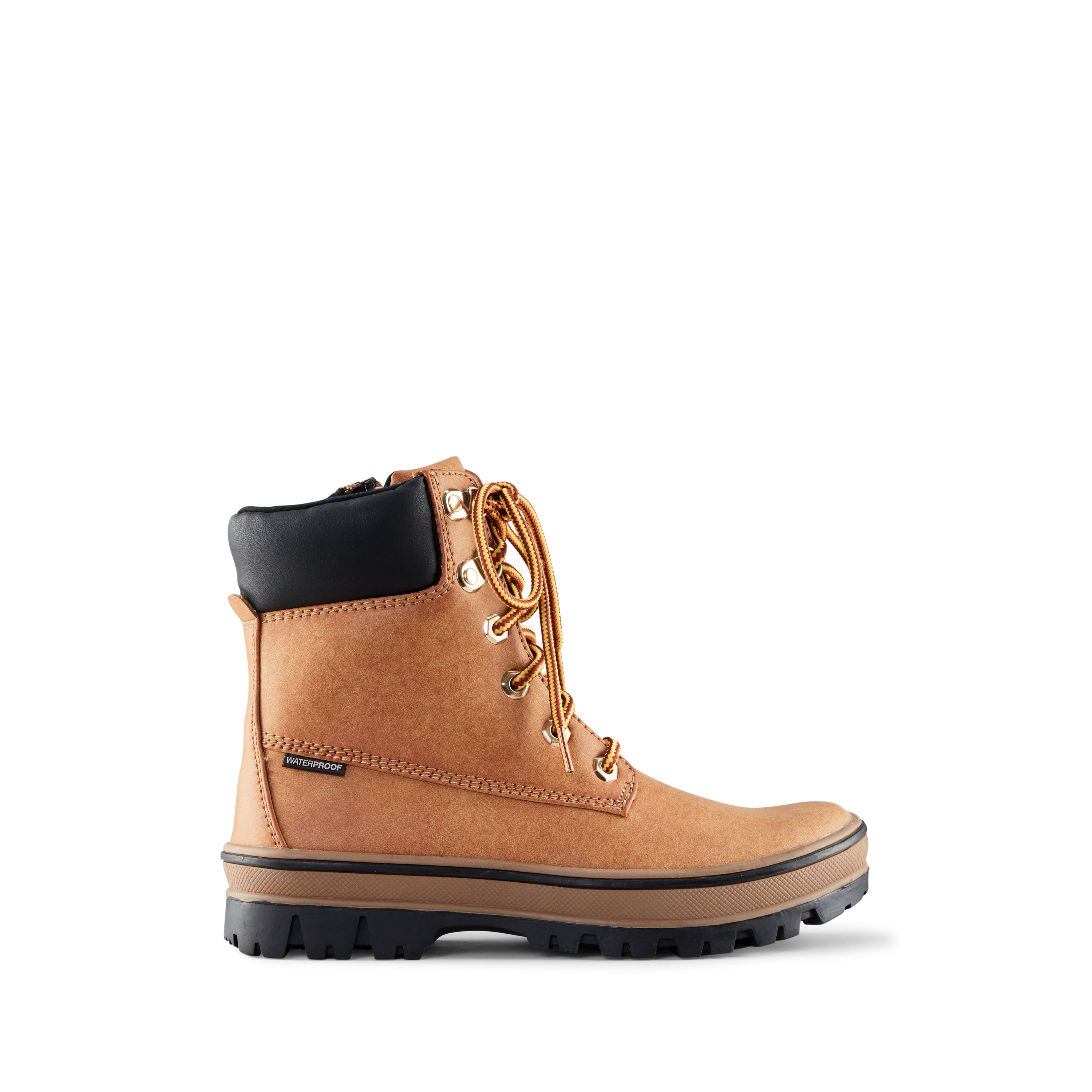 Cougar kid's boot brown inspired style with snow boot function. Thermolite insulation for added warmth.