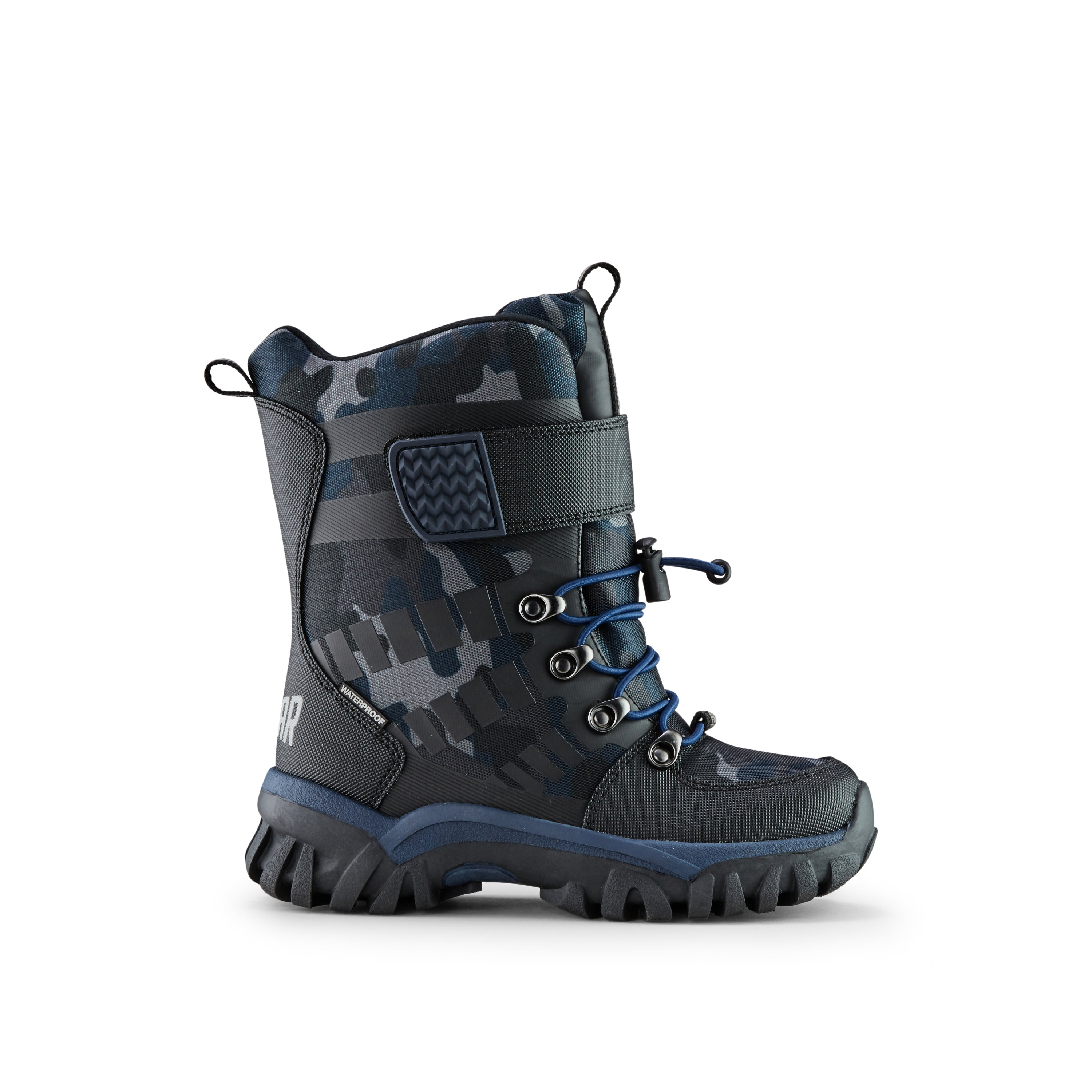 Cougar Kids' Winter Boots- Trek. Easy pull-on kid's winter boot with hook and loop strap closure. Always Waterproof