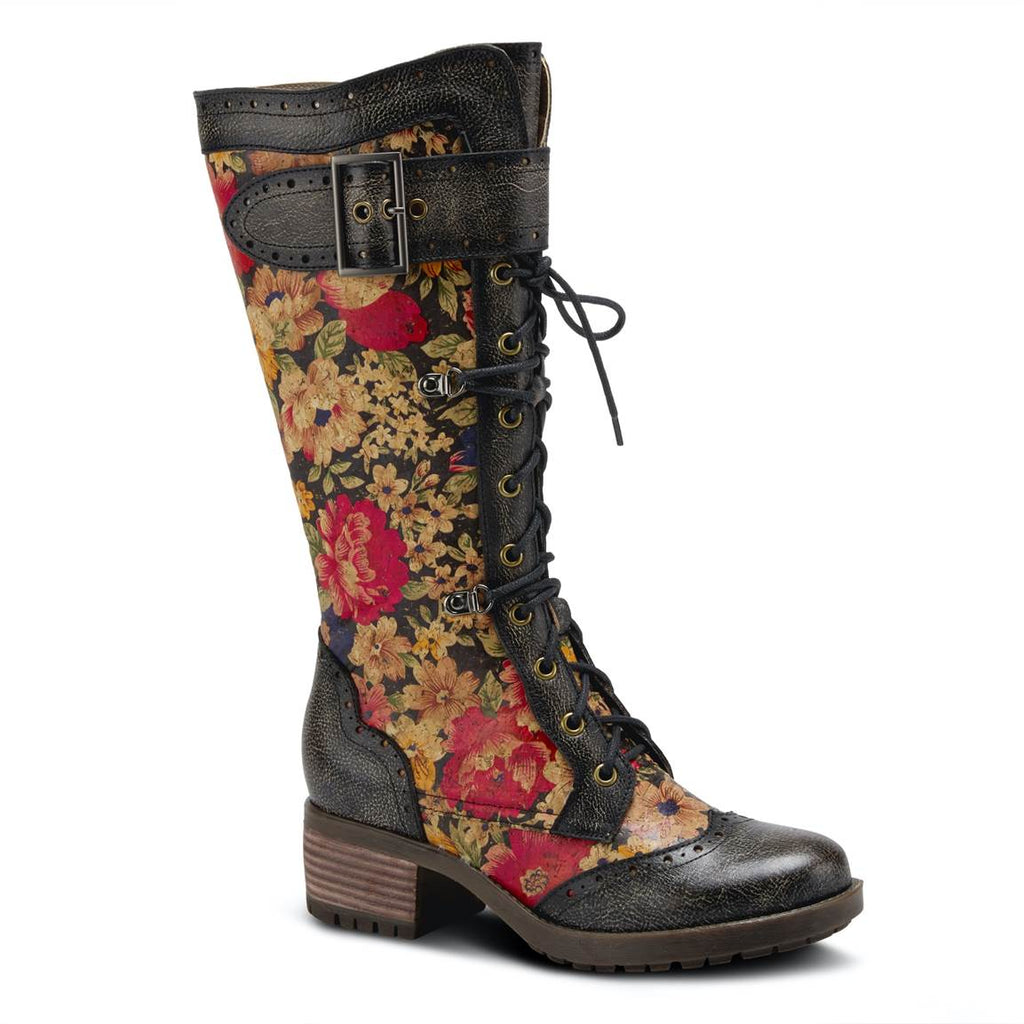 L'Artiste Kisha Floral Boot that looks great and keeps on getting better.